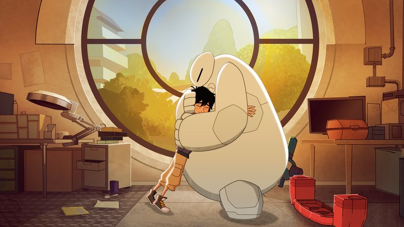 """BIG HERO 6 - """"Baymax Returns"""" - Set in the fictional city of San Fransokyo, 14-year-old tech genius Hiro begins school as the new prodigy at San Fransokyo Institute of Technology and sets off to rebuild Baymax. However, his overconfidence and penchant for taking shortcuts leads him and the newly minted Big Hero 6 team Ð Wasabi, Honey Lemon, Go Go and Fred Ð into trouble. The one-hour premiere airs Monday, November 20 (8:00 - 9:00 P.M. EDT) on Disney XD. (Disney XD) HIRO HAMADA, BAYMAX – Bild: 2017 Disney Enterprises, Inc. All rights reserved."""