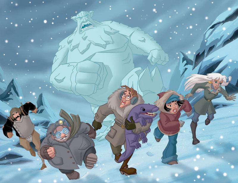 Auf der Flucht: (v.l.n.r.) Vinnie, Mole, Milo, Audrey und Kida ... – Bild: Disney © Disney•Pixar © & ™ Lucasfilm LTD © Marvel. Alle Rechte Vorbehalten