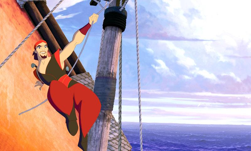 """""""Sinbad: Der Herr der sieben Meere"""", Sinbad steht unter Verdacht, einen der kostbarsten und mächtigsten Schätze gestohlen zu haben. Das Schiff, auf dem sich das 'Buch des Friedens' befindet, wird jedoch von seinem alten Freund Proteus gesteuert. Dieser sollte es zurück zu seinem Vater bringen. Proteus soll den Verlust mit seinem Leben bezahlen. Dessen bezaubernde Verlobte Marina drängt Sinbad, ihn zu retten. Gemeinsam mit Hund Spike begeben sie sich in ein gefährliches Abenteuer. SENDUNG: ORF eins - SO - 12.06.2011 - 12:10 UHR. - Veroeffentlichung fuer Pressezwecke honorarfrei ausschliesslich im Zusammenhang mit oben genannter Sendung oder Veranstaltung des ORF bei Urhebernennung. Foto: ORF/TELEPOOL/Dreamworks Pictures. Anderweitige Verwendung honorarpflichtig und nur nach schriftlicher Genehmigung der ORF-Fotoredaktion. Copyright: ORF, Wuerzburggasse 30, A-1136 Wien, Tel. +43-(0)1-87878-13606 – Bild: ORF"""