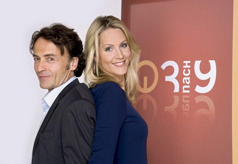 3nach9 - Judith Rakers und Giovanni di Lorenzo - 3nach9-Moderatoren – Bild: 3sat