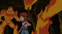 Wird Angie den Monstern entkommen können? – © Akiyoshi Hongo, Toei Animation. TM Saban Properties LLC. All Rights Reserved. Lizenzbild frei