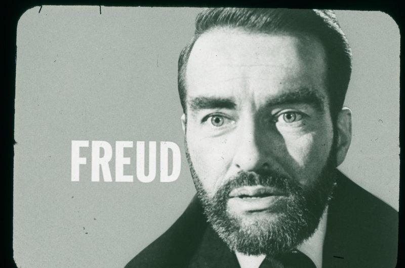 Freud - Artwork - Blickt auch in die Dämmerwelt seiner eigenen Seelenabgründe: Dr. Sigmund Freud (Montgomery Clift) ... – Bild: NBC UNIVERSAL International Lizenzbild frei
