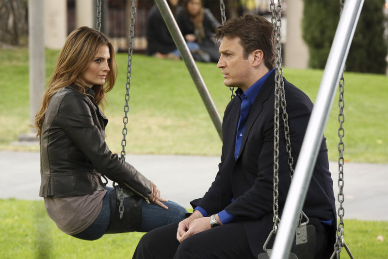 L-R: Detective Kate Beckett (Stana Katic), Richard Castle (Nathan Fillion) – Bild: Universal Channel
