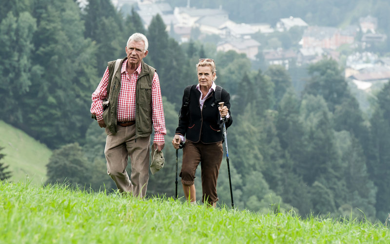 Heinz Marecek (Hannes Kofler), Andrea L'Arronge (Gräfin Schönberg). – Bild: ORF