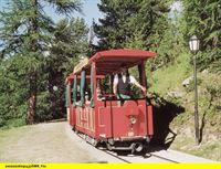 """SWR Fernsehen EISENBAHN-ROMANTIK FOLGE 449, """"Rhone Express - vom Genfer See zum Matterhorn"""", am Montag (03.11.14) um 14:15 Uhr. Das Riffelalptram - die höchste Straßenbahn Europas in 2222 Metern Höhe, zu Füßen des Matterhorns. – © SWR/B. Bansbach"""