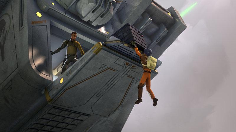 Es ist eine dunkle Zeit in der Galaxie angebrochen, denn das böse galaktische Imperium regiert mit eiserner Hand. Eine kleine Gruppe wagt es jedoch, sich ihnen zu widersetzen: die kluge und bunt zusammengewürfelte Mannschaft des Raumschiffs Ghost. Star Wars Rebels verfolgt die Abenteuer der ungleichen Helden, die ihre einzigartigen Fähigkeiten und natürlichen Talente einsetzen, um gegen das Imperium zu kämpfen und den Bürgern ihrer Welt zu helfen. Das Geschehen der TV-Serie ist 14 Jahre nach den Ereignissen von «Star Wars: Episode III – Die Rache der Sith» angesiedelt. © & TM 2014 Lucasfilm Ltd. – Bild: 2013 The Walt Disney Company German