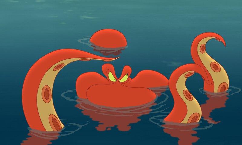 """Käpt""""n Hook hat Wendys Tochter Jane entführt. Peter Pan versucht sie zu retten. Ein Krake aus der tiefen See kommt ihm dabei zu Hilfe. – Bild: Disney Channel"""