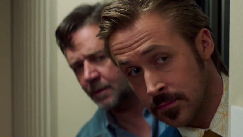 from left Jackson Healy (Russell Crowe), from right Holland March (Ryan Gosling) – Bild: Film 1 Action