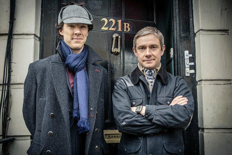 Neutrale Motive: Sherlock Holmes (Benedigt Cumberbatch) und sein Freund John Watson (Martin Freeman). – Bild: ARD Degeto Film/BBC/Hartswood Films