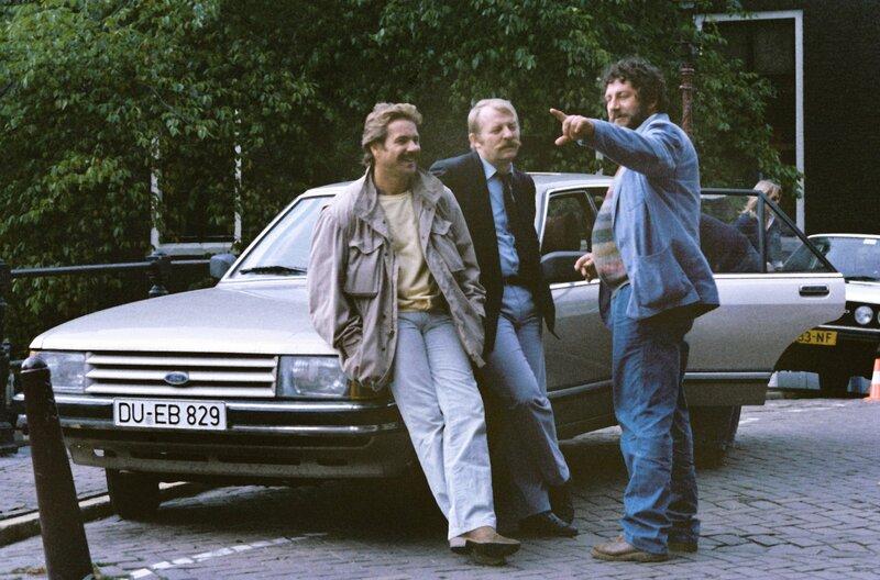 Horst Schimanski (Götz George, l), Christian Thanner (Eberhard Feik, Mitte) und Hänschen (Chiem van Houweninge) – Bild: WDR
