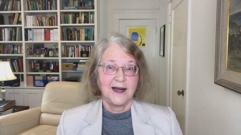 """Die Molekularbiologin Elizabeth Blackburn spricht über die """"Telomerase und die Gründe des Alterns"""". – Bild: B.O.A. Videofilmkunst GmbH/BR"""