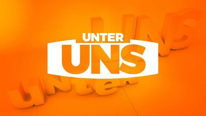 """Logo """"Unter uns"""" – Bild: TVNOW Die Verwendung des Materials der Mediengruppe RTL ist nur zur redaktionellen Berichterstattung im Zusammenhang mit der Sendung unter Angabe der Credits/Quellenangabe und Beachtung der unter http"""