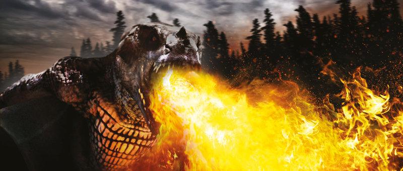 Der berüchtigte Drachenjäger Ahab wurde in seiner Kindheit von dem legendären weißen Drachen angegriffen und schwer verletzt. Seitdem ist er mit seiner Crew auf der Jagd nach dem Monster. Doch Ahabs Wunsch nach Rache vernebelt seine Sinne und bringt die ganze Mannschaft in Lebensgefahr. – Bild: RTL Zwei