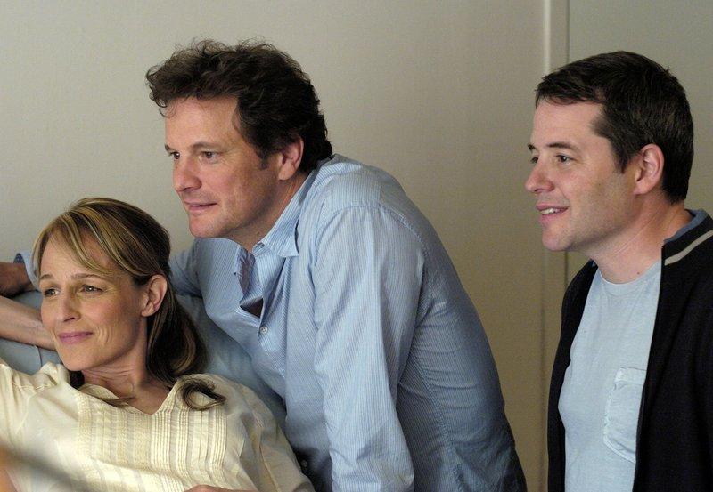 WDR Fernsehen ALS SIE MICH FAND (then she found me), USA 2008, Regie Helen Hunt, am Samstag (28.09.13) um 13:35 Uhr. April (Helen Hunt) ist mit Ben (Matthew Broderick, r), dem leiblichen Vater ihres Kindes, und ihrem Lebensgefährten Frank (Colin Firth) beim Ultraschall. – Bild: WDR/Degeto