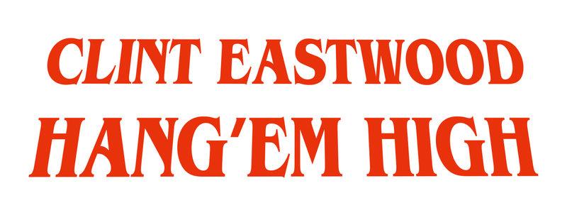 HÄNGT IHN HÖHER - Logo – Bild: 1968 ROSE FREEMAN REVOCABLE TRUST AND LEONARD FREEMAN TRUST. All Rights Reserved Lizenzbild frei