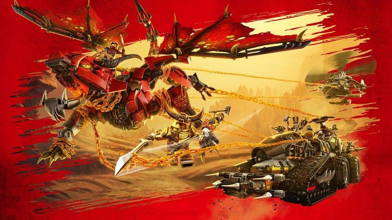 Die Ninjas sind getrennt und befinden sich nun im Land der Drachen, wo neben den Drachen noch viele andere Gefahren lauern.. – Bild: LEGO