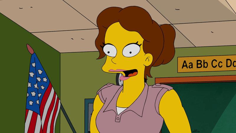 """""""Die Simpsons"""", """"Die Milch macht's."""" An Springfields Schule wird eine neue Lehrkraft angestellt: Carol Berrera. Bart verliert sein Herz an sie und versucht bei ihr zu punkten. Zu seinem Ärger scheint auch Rektor Skinner ein Auge auf den Neuzugang geworfen zu haben. Indes bringt Homer eine modifizierte Milch vom Einkauf mit nach Hause, die ungeahnte Nebenwirkungen hat. Beim Nachwuchs löst sie eine verfrühte Pubertät aus. – Bild: ORF eins"""