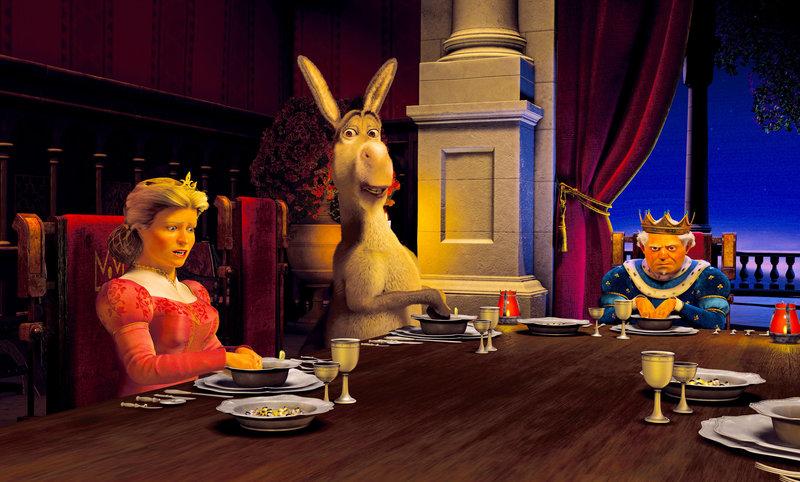 """""""Shrek 2 - Der tollkühne Held kehrt zurück"""", Shrek und seine frisch angetraute Ogersgattin machen sich auf den Weg ins Königreich 'Weit Weit Weg', wo sie ein pompöser Empfang am Hofe von Fionas Eltern erwartet. Doch erste Gewitterwolken ziehen auf, als die 'gute Fee' ihre intriganten Finger ins Spiel bringt. Um seine geliebte Prinzessin Fiona zurückzuerobern, kann Shrek bald jede nur erdenkliche Hilfe brauchen. Das Plappermaul Esel und der gestiefelte Kater zählen dabei zu seinen wichtigsten Verbündeten. SENDUNG: ORF eins - SA - 31.12.2016 - 12:20 UHR. - Veroeffentlichung fuer Pressezwecke honorarfrei ausschliesslich im Zusammenhang mit oben genannter Sendung oder Veranstaltung des ORF bei Urhebernennung. Foto: ORF/TELEPOOL/DREAMWORKS. Anderweitige Verwendung honorarpflichtig und nur nach schriftlicher Genehmigung der ORF-Fotoredaktion. Copyright: ORF, Wuerzburggasse 30, A-1136 Wien, Tel. +43-(0)1-87878-13606 – Bild: ORF"""