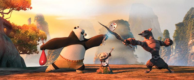 """""""Kung Fu Panda 2"""", Panda Po steht vor der großen Bewährungsprobe als Drachenkönig. Auf Faulenzen und sein geliebtes Essen muss er wohl verzichten, denn jetzt heißt es: Action! Sein alter Meister Shifu erscheint ihm und erteilt Po einen schwierigen Auftrag. Der skrupellos fiese Pfau Lord Shen will ganz China unter seine Herrschaft bringen und die Kunst des Kung Fu für immer aus dem Land verbannen. Bevor Po mit den Drachenkriegern Monkey, Mantis, Viper, Tigress und Crane so richtig loslegt, muss er noch seine innere Mitte finden und sich seiner Vergangenheit stellen. SENDUNG: ORF eins - DO - 10.05.2018 - 12:40 UHR. - Veroeffentlichung fuer Pressezwecke honorarfrei ausschliesslich im Zusammenhang mit oben genannter Sendung oder Veranstaltung des ORF bei Urhebernennung. – Bild: ORF"""