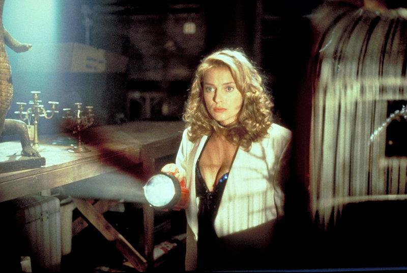 Mit einer Taschenlampe bewaffnet macht sich Tammy Larsen (Lee Armstrong) auf die Suche nach dem arglistigen Kobold Leprechaun ... – Bild: Kushner-Locke Company Lizenzbild frei
