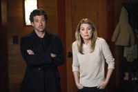 Bekommen überraschend Besuch von Amelia: Derek (Patrick Dempsey, l.) und Meredith (Ellen Pompeo, r.) ... – © ABC Studios Lizenzbild frei