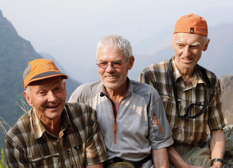 Ernst Forrer, Albin Schelbert und Hugo Weber in Nepal : (Copyright SRF) – Bild: SF