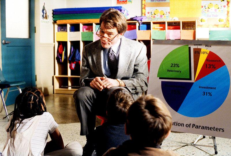 Hal (Bryan Cranston) erzählt in Deweys Klasse von seiner Arbeit. – Bild: ORF