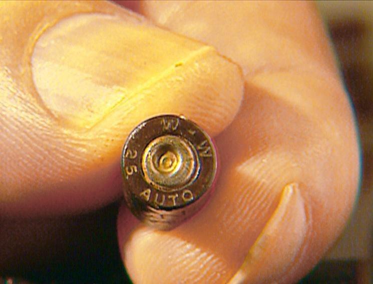 Mit Hilfe eines Metalldetektors kann die für den Mord benutzte Patrone gefunden werden. – Bild: RTL Crime