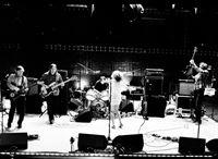 Sonic Youth spielen live in einem Londoner Studio - ohne Publikum, Moderationen und Interviews. Die Kamera umfährt die Künstler und betrachtet das Geschehen und ermöglicht somit dem TV-Zuschauer einen intensiven unverstellten Blick. – © From The Basement TV Ltd. 2007 Lizenzbild frei