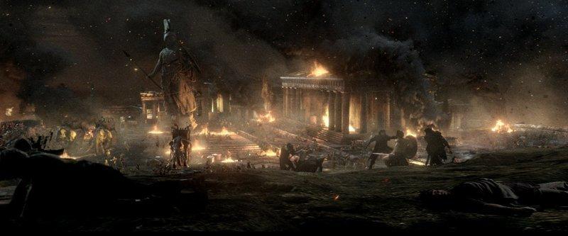 Athen soll brennen: Der Perser-König Xerxes befiehlt die Belagerung Athens durch seine Armee, um Griechenland ein für alle Mal einzunehmen und Rache an seinen getöteten Vater zu nehmen… – Bild: Puls 4