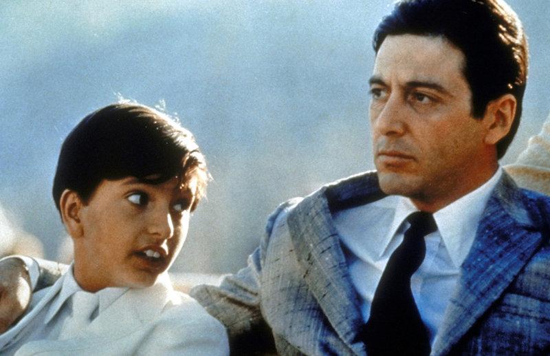 Der Pate Michael Corleone (Al Pacino, r.) ist seinem Sohn ein guter Vater ... – Bild: Puls 8