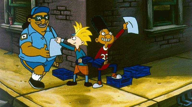 Gerald (r.) und Arnold (M.) versuchen alles um ihr Zuhause vor dem skrupellosen Immobilienhai zu retten ... – Bild: Puls 8