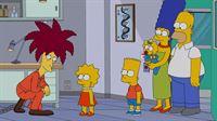 Lisa (2.v.l.) hat durch eigene Forschungen herausgefunden, dass gentechnisch veränderte Lebensmittel gar nicht so schlimm sind, wie alle immer behaupten. Darum darf sie mit Bart (3.v.l.), Homer (r.), Marge (2.v.r.) und Maggie (3.v.r.) das Forschungszentrum der Firma Monsamo besuchen, dessen Chef zu ihrer großen Überraschung Tingeltangel-Bob (l.) ist ... – Bild: 2013 Twentieth Century Fox Film Corporation. All rights reserved. Lizenzbild frei