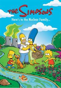 (17. Staffel) - Die chaotische Familie Simpson: Marge (M.), Homer (2.v.l.), Lisa (r.), Bart (l.), Maggie (2.v.r.) ... – © und TM Twentieth Century Fox Film Corporation - Alle Rechte vorbehalten Lizenzbild frei