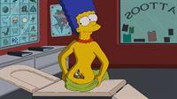 Während Homer entsetzt ist, dass Bowlingkumpel Dan Gillick für Fat Tony und die Mafia arbeitet, hat Marge sich ihre Familie verewigen lassen ... – Bild: und TM Twentieth Century Fox Film Corporation - Alle Rechte vorbehalten Lizenzbild frei