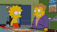 Lisas (l.) neuer Schwarm Lucas (r.) hat so spannende Interessen wie Wettkampf-Essen und erinnert auch sonst erschreckend an Homer - für Marge ein Grund, sich Sorgen um ihre Tochter zu machen ... – © 2013 Twentieth Century Fox Film Corporation. All rights reserved. Lizenzbild frei