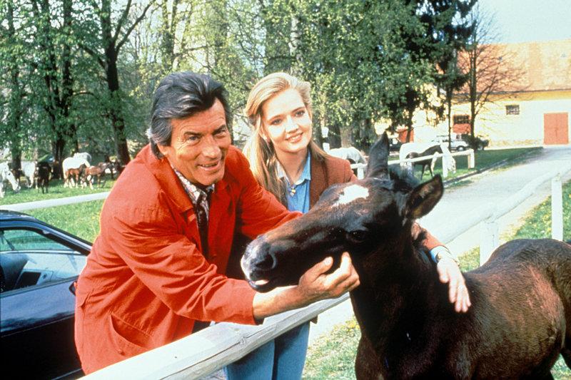 Pierre Brice (Andre), Julia Biedermann (Ida). – Bild: ORF
