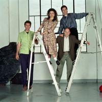 3. Staffel (v.l.): Kramer (Michael Richards), Elaine (Julia Louis-Dreyfus), George (Jason Alexander) und Jerry (Jerry Seinfeld) – © RTL NITRO