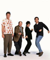 8. Staffel: (v.l.) Kramer (Michael Richards), George (Jason Alexander), Elaine (Julia Louis-Dreyfus) und Jerry (Jerry Seinfeld) – © RTL Nitro