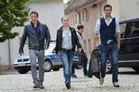 v.l.n.r.: Jan Maybach (Marco Girnth), Salnik (Christian Feist), Caro Heise (Anna Brüggemann), Frank Seefeld (Tobias Oertel) – Bild: ZDF und Uwe Frauendorf