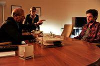 Martina Seiffert (Astrid M. Fünderich, Mi.); Jo Stoll (Peter Ketnath, re.); Michael Kaiser (Karl Kranzkowski, li.) – © ZDF und Markus Fenchel