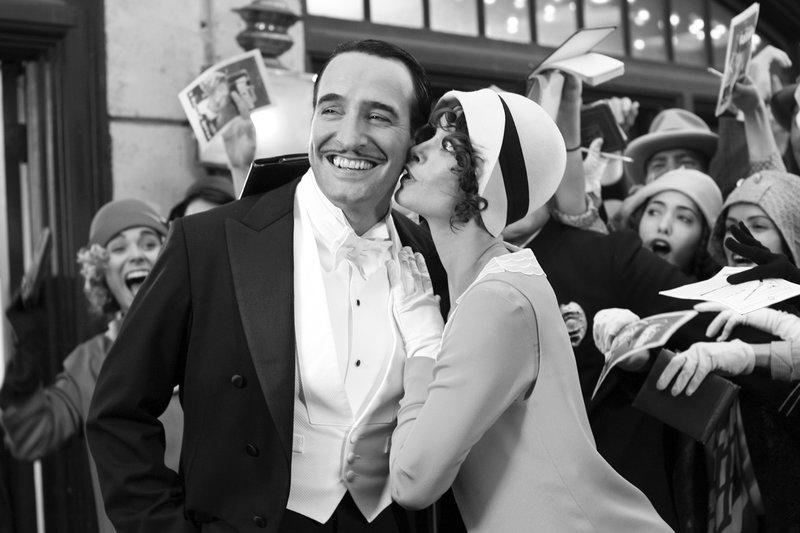 Der letzte grosse Stummfilmstar: Jean Dujardin als George Valentin, Bérénice Bejo als Peppy Miller – Bild: SRF/DCM