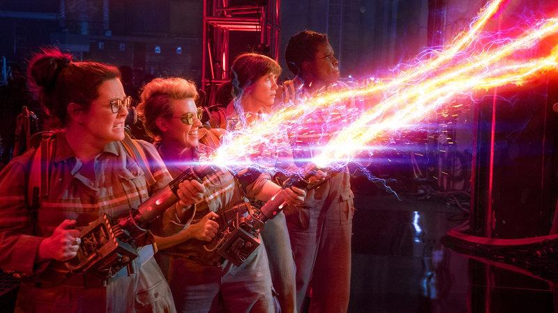 Ghostbusters Melissa McCarthy als Abby Yates, Kate McKinnon als Jillian Holtzmann, Kristen Wiig als Erin Gilbert, Leslie Jones als Patty Tolan SRF/2016 Columbia Pictures Industries, Inc. and Village Roadshow Films Global Inc. – Bild: SRF2
