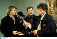 Von links: Kriminaloberkommissar Carlo Menzinger (Michael Fitz), Kriminalhauptkommissar Ivo Batic (Miroslav Nemec) und Kriminalhauptkommissar Franz Leitmayr (Udo Wachtveitl). – © BR/Voissfilm/Studio Lemm