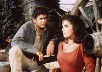 Little Joe Cartwright (Michael Landon, l.) versucht, Willow (Anita Sands, r.) zu erklären, dass er ihren Vater in Notwehr erschossen hat. – Bild: Paramount Pictures