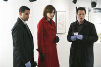 Javier Esposito (Jon Huertas, l.), Kate Beckett (Stana Katic, M.) und Kevin Ryan (Seamus Dever, r.) ermitteln in einem neuen Fall. – Bild: ABC Studios