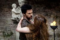 Picture shows: Leonardo Da Vinci (TOM RILEY) and Vanessa (HERA HILMAR) Tom Riley alias Leonardo da Vinci (2) – © 2013 Tonto Films and Television Limited.
