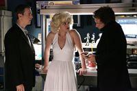 Abbys (Pauley Perrette, M.) Halloween Kostüm verschlägt Tony (Michael Weatherly, r.) und McGee (Sean Murray, l.) die Sprache ... – Bild: CBS Television