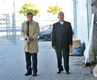 Ein neuer Fall wartet auf Gibbs (Mark Harmon, r.) und Tony (Michael Weatherly, l.) ... – © CBS Television