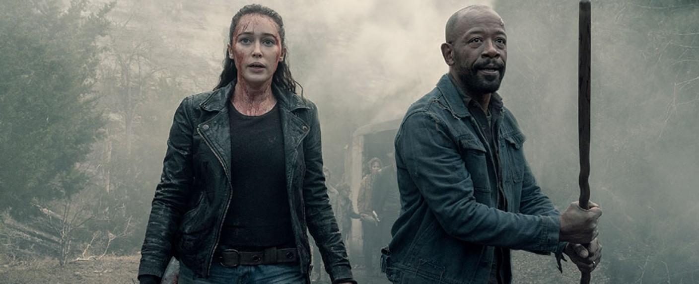 """Alicia (Alycia Debnam-Carey) und Morgan (Lennie James) in Staffel 5 von """"Fear the Walking Dead"""" – Bild: AMC"""